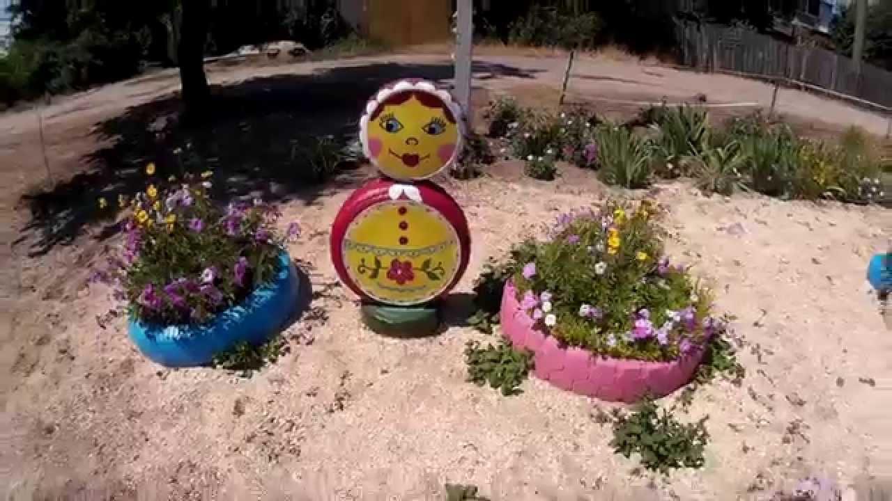 Клумбы и цветники своими руками для детского  310