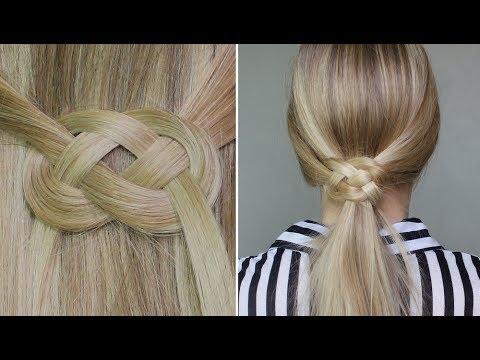 ✄ Demi-queue ou queue de cheval avec noeud infinity ♥ noeud marin