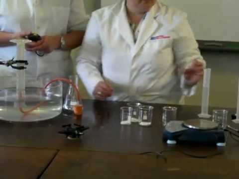 an overview of the experiment calcium carbonate in reaction with the acidic concetration