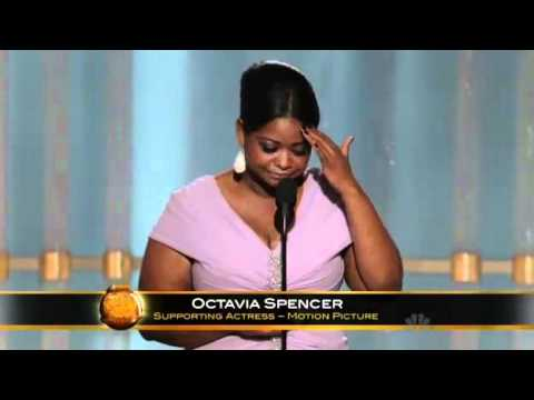 Octavia Spencer winning a Golden Globe 2012 HQ