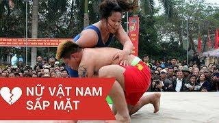 Trò chơi ngày tết/ đô vật nam đấu với đô vật nữ/ Traditional Game of Vietnam.