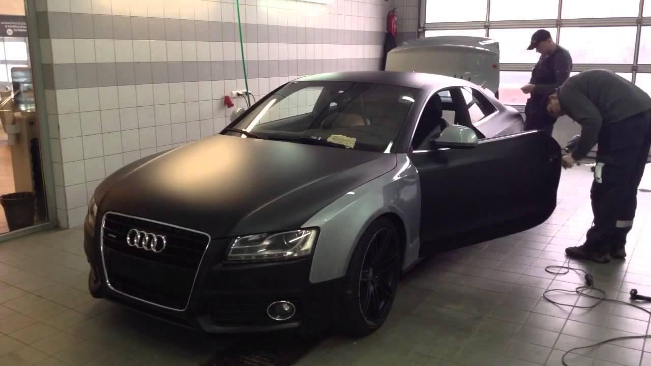 Autoapklijavimas Lt Audi A5 Black Matte Youtube