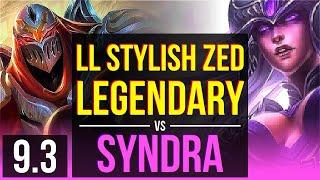 LL Stylish ZED vs SYNDRA (MID) | Legendary | NA Diamond | v9.3