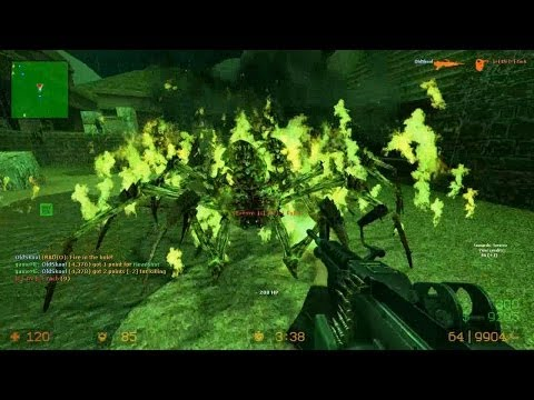 Counter Strike Source Zombie Riot mod online gameplay on Aztec map