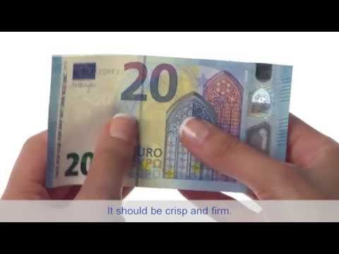 The new €20 and its security features