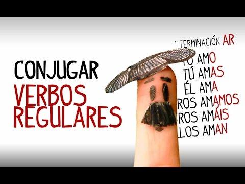 Conjugación Verbos Regulares En Español. Aprender Español