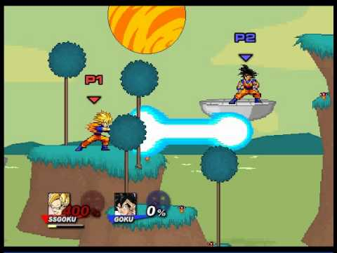 Super smash flash 2 character moves goku youtube