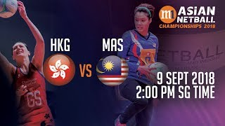 🔴 Hong Kong 🇭🇰 vs 🇲🇾 Malaysia | Asian Netball Championship 2018