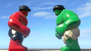 RED HULK VS HULK (BATTLE) - LEGO Marvel Super heroes