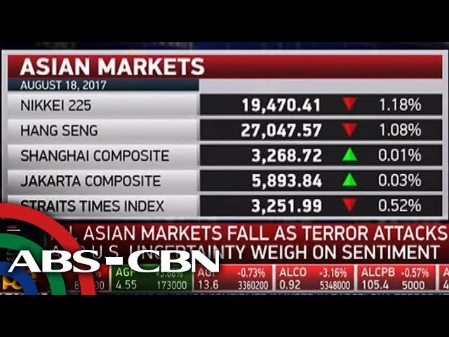 Business Nightly: PH, Asian markets fall amid Barcelona terror attack