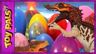9 Mutant DINOSAUR TOYS in Surprise Dinosaur Eggs - Discover + Name NEW Dinosaurs Videos