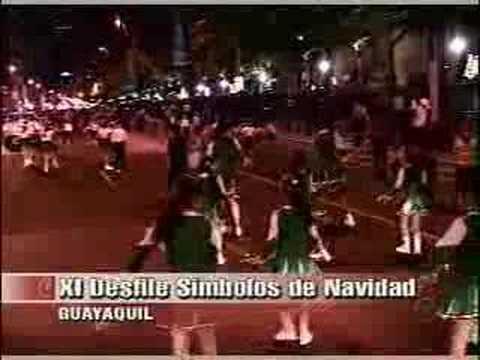 XI Desfile de simbolos de Navidad en Guayaquil