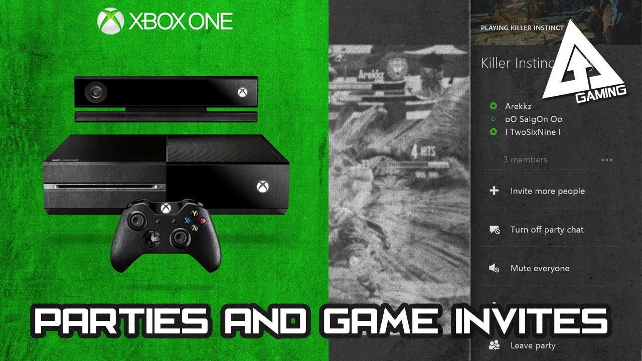 xbox one tutorial - parties and game invites tutorial