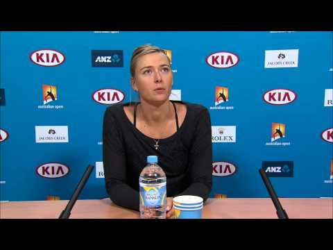 Maria Sharapova press conference (4R) - Australian Open 2015