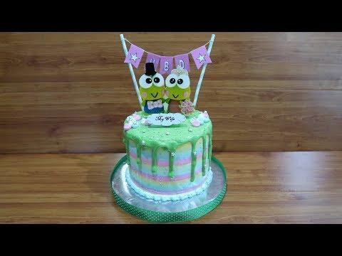 How to Decorating Cake Birthday Keroppi Tart - How to Make Birthday Cake Unique