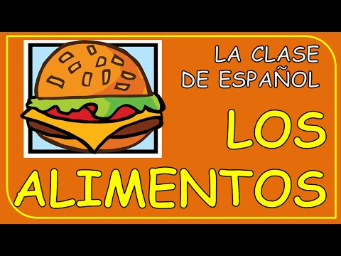 LOS ALIMENTOS EN ESPAÑOL. FOOD IN SPANISH.