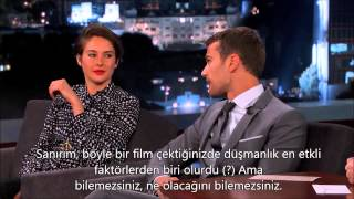 Shailene Woodley & Theo James on Jimmy Kimmel Live [TR Altyazılı]