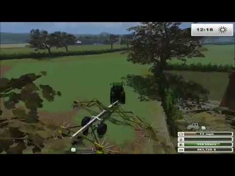 Farming Simulator 2013: Orchard Farm Ep3 Round Baling With Claas Rollant