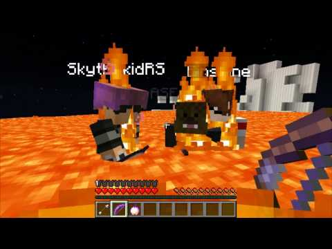 Minecraft Minigame: T.N.T. Bow Spleef w/ Skydoesminecraft, JeromeASF, and Shine