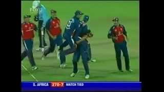 Tied ODI 2005 South Africa vs England - Final Over