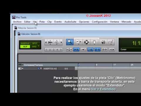 SonuRit - Tutorial de Iniciación de Pro Tools (vers.10) en español - Parte 1/3