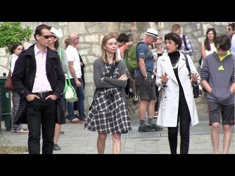 EXCLUSIVE - Calista Flockhart and son Liam visit Montmartre in Paris