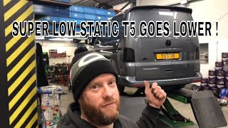 ** IS IT STILL DRIVABLE ?  **     VW T5 GOES SUPER LOW ON GEPFEFFERT KW V3 COILOVERS STATIC T5