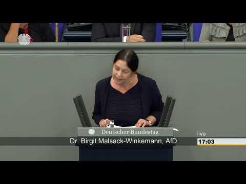 Birgit Malsack-Winkemann: Ernährung und Landwirtschaft [Bundestag 11.09.2018]