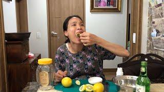 |Tập 201| LÀM NƯỚC DƯỠNG DA TỪ CHANH TÂY.MAKING LEMON SKIN.레몬 스킨 만들기.