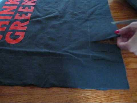 How To Make A Throw Pillow Out Of An Old T Shirt : DIY: No Sew Pillow from Old T-Shirt - YouTube