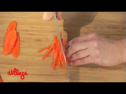 Learn How Now: How to Julienne Vegetables