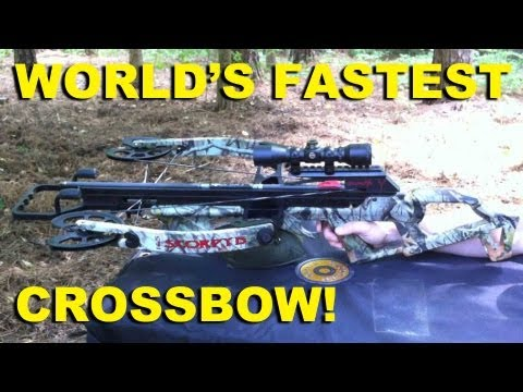 World's Fastest Crossbow!  Reverse Draw Scorpyd RDT165