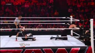 Rey Mysterio & Sin Cara vs Kane & Daniel Bryan (Team Hell No) WWE Raw 11/19/12