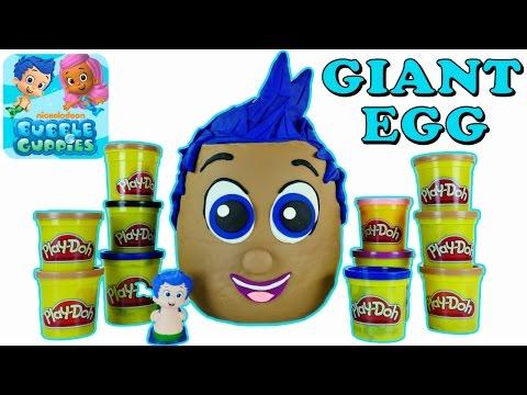 Jumbo Play Doh Bubble Guppies Egg Surprise ★ Plastilina Gigante Huevo Sorpresa video