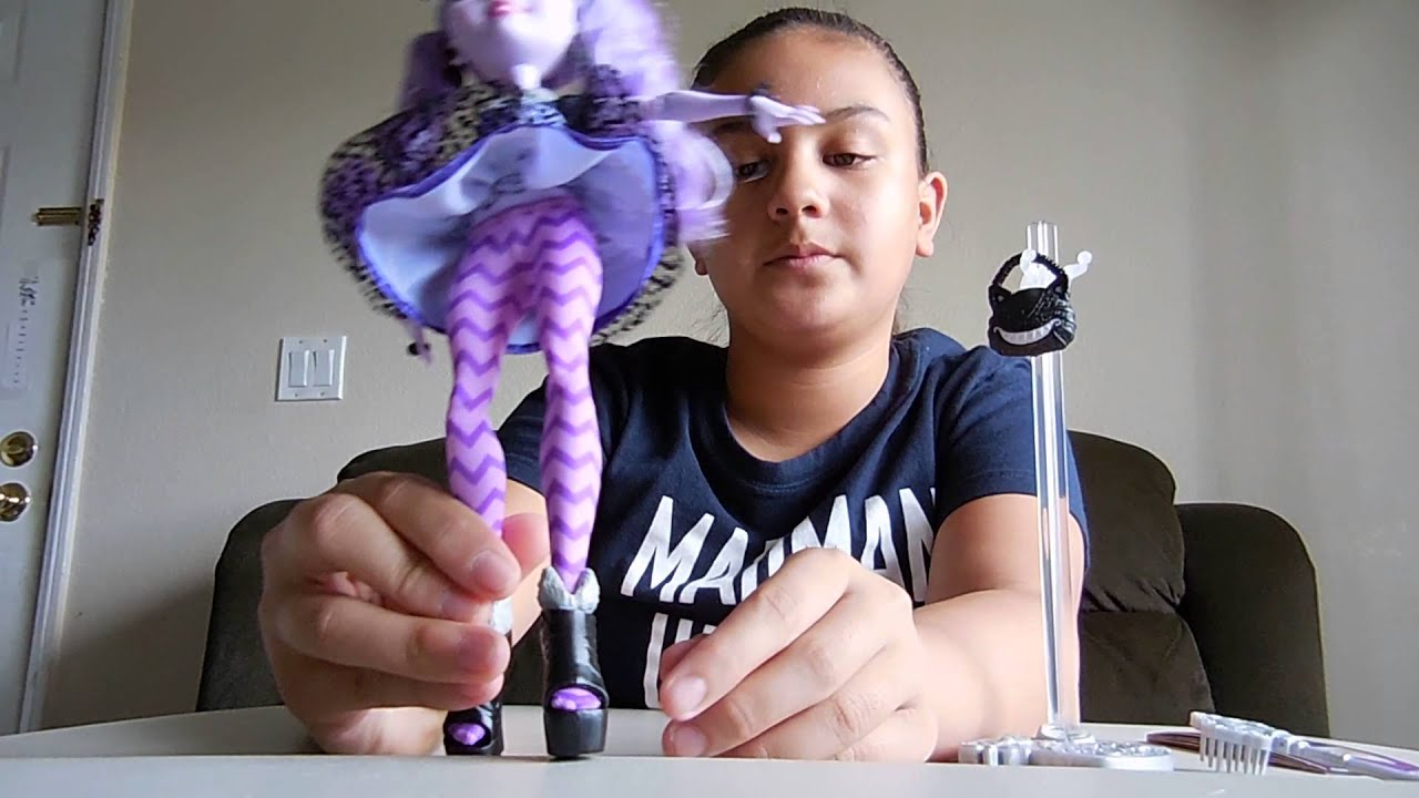Ever after high kitty cheshire doll review youtube