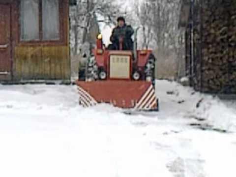 Вывоз снега  Władimirec t-25A,Akcja zima 2011 snowblower