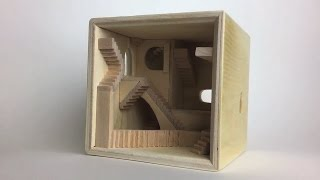 M.C. Escher Staircase Cube Build