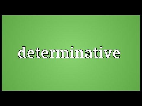 Header of determinative