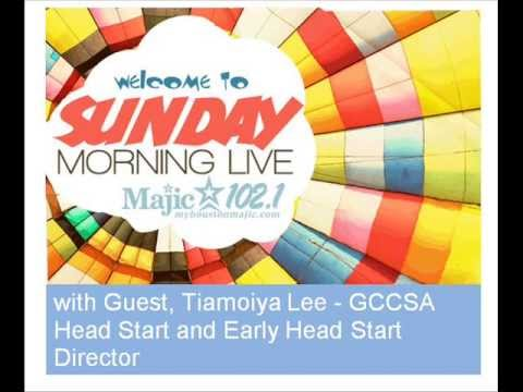 MAJIC 102.1 Sunday Morning Live with Director of GCCSA Head Start and Early Head Start