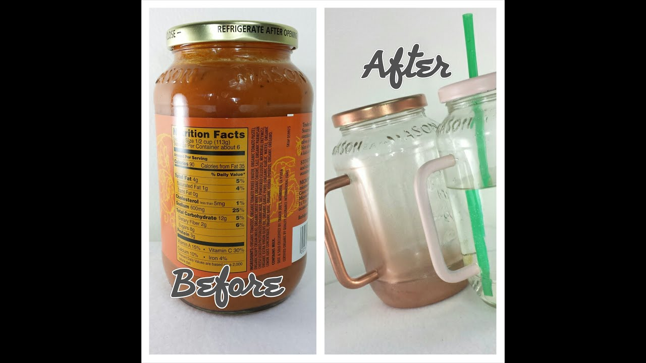 How To Make Drinking Glasses Out Of Jars