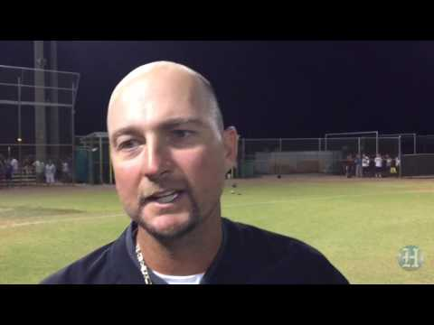 Stoneman Douglas baseball coach Todd Fitz-Gerald reacts after his team earned a trip to the state