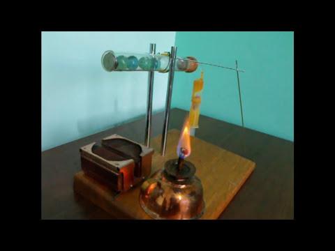 Motor Stirling simples com proveta ou tubo de ensaio - Stirling Engine