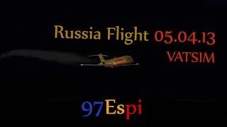 FS9 VATSIM Full Flight + ATC Rostov to Sochi 05.04.13 DHL DC93