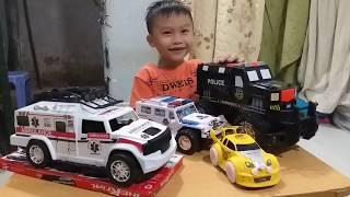 Xe đồ chơi trẻ em, xe cẩu, xe bồn, xe cứu hỏa, xe đổ rác, xe cảnh sát.Kids, car toy, truck.