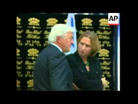 German FM meets Israeli foreign minister Tzipi Livni, Olmert on conference