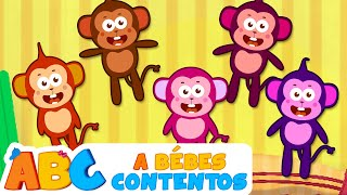 Cinco Monitos y más Canciones Divertidas por 50 minutos | A Bebés Contentos