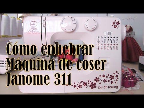 Cómo enhebrar máquina de coser Janome 311. 1008. 2008. SewMini. 11706