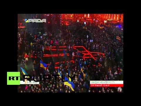 Ukraine: Poroshenko rails against Russia on Maidan anniversary