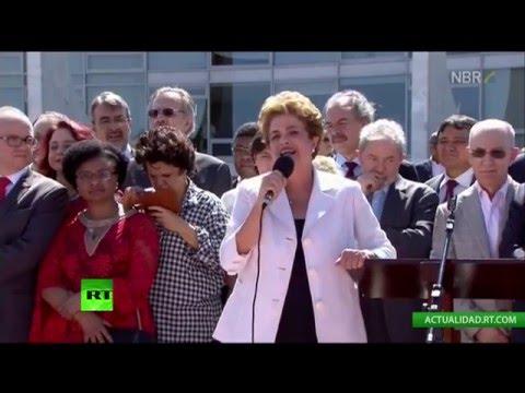 Dilma Rousseff se dirige a sus seguidores tras el 'impeachment'