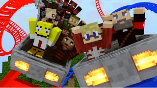 Minecraft | ROLLER COASTER MOD Showcase! (Roller Coaster & Roller Coaster Tycoon)